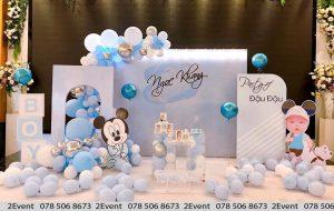 Mẫu trang trí sinh nhật 3D chủ đề chuột Mickey