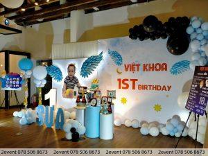 Những mẫu trang trí sinh nhật cho bé trai