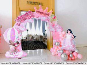 Cổng bong bóng 3D trong tiệc sinh nhật