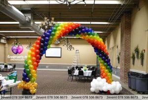 Cổng bong bóng xoắn 2 màu