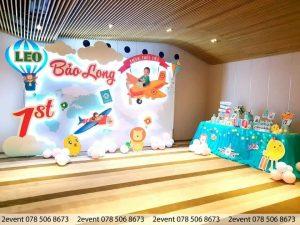 2Event trang trí sinh nhật 3D bé Bảo Long