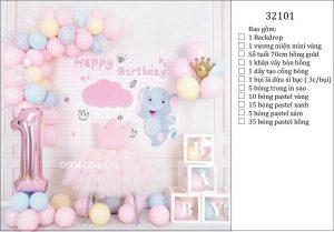 Trang trí sinh nhật tại nhà đẹp 01
