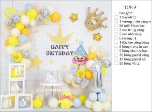 Mẫu trang trí sinh nhật tại nhà đơn giản đẹp cho bé 07