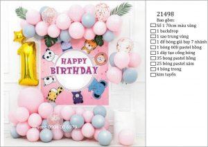 Mẫu trang trí sinh nhật tại nhà đơn giản đẹp cho bé 08