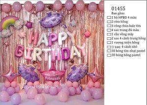 Mẫu trang trí sinh nhật tại nhà đơn giản đẹp cho bé 01