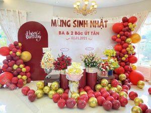 Mẫu trang trí sinh nhật theo phong cách người Hoa