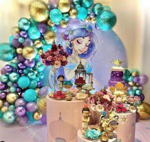 Mẫu trang trí sinh nhật thôi nôi cho bé chủ đề công chúa