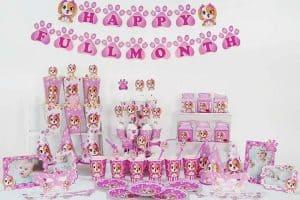 Set phụ kiện trang trí sinh nhật cho bé gái