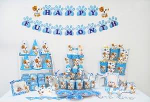 Set phụ kiện trang trí sinh nhật cho bé trai